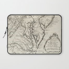 Vintage Map of The Chesapeake Bay (1780) Laptop Sleeve
