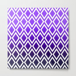 Purple Dipped Diamonds Metal Print