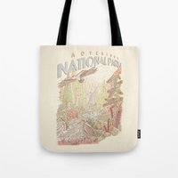 parks Tote Bags featuring Adventure National Parks by Taylor Rose
