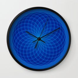 Blue and round Graphic Wall Clock
