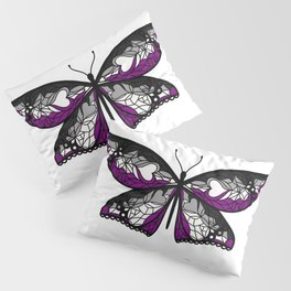 Fly With Pride: Asexual Flag Butterfly Pillow Sham