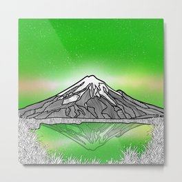 Mount Taranaki New Zealand Metal Print