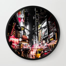 New York City Night II Wall Clock