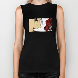 Lady and Roses by Maurice Neal Biker Tank