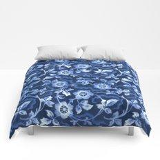 Blue floral pattern Comforters