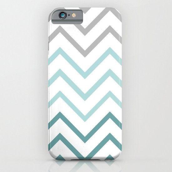 THIN TEAL CHEVRON FADE  iPhone & iPod Case