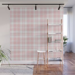 Cozy Plaid in Pink Wall Mural