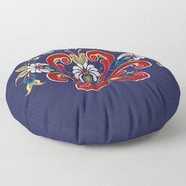 Scandinavian Rosemaling II Floor Pillow