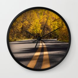 Golden Road Trip // Fall Colors on the Road Wall Clock