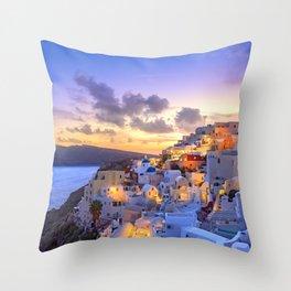 Santorini #society6 #decor #buyart Throw Pillow
