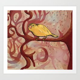 Wonderland Bird Art Print