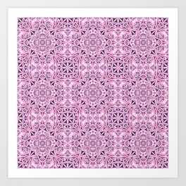 Pink kaleidoscope wallpaper Art Print