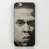 jay z iPhone & iPod Skins featuring Jay Z by Leonidas The King
