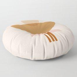 Amber Abstract Half Moon 3 Floor Pillow