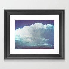 cloud mass Framed Art Print