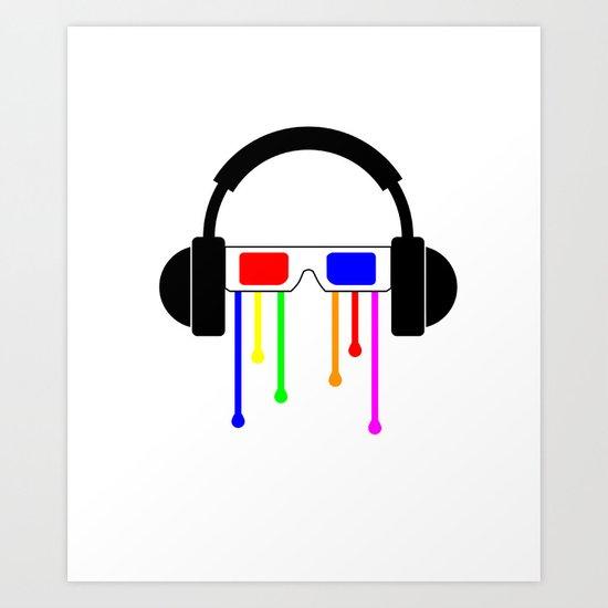 Technicolor tears  Art Print