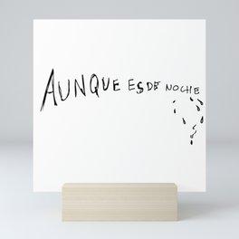 Artwork Lettering Aunque es de noche Rosalia Mini Art Print