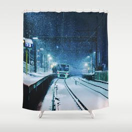 Shimotakaido Station Snow Shower Curtain