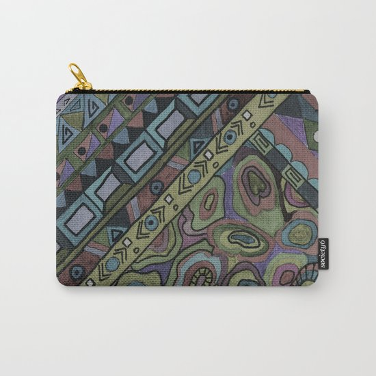 An abstract textured pattern in Oriental style . Carry-All Pouch