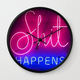 shit happens Wall Clock