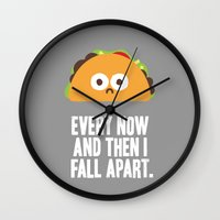 taco Wall Clocks featuring Taco Eclipse of the Heart by David Olenick
