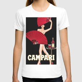 Vintage Bitter Campari Lithograph Advertisement T-shirt