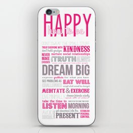HOW TO BE HAPPY iPhone Skin