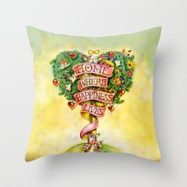 Tree of happiness! Throw Pillow