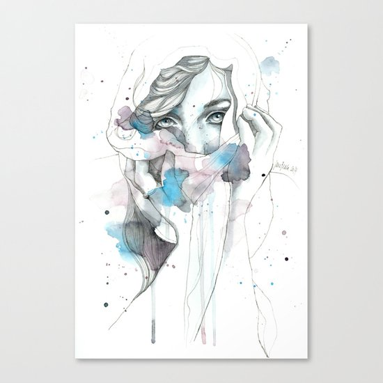 Scarf Canvas Print