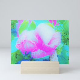 Abstract Pink Hibiscus Bloom with Flower Power Mini Art Print