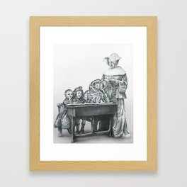 In which a cosmonaut is rendered quizzical Framed Art Print