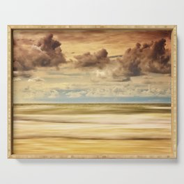 Stormy North Sea Serving Tray