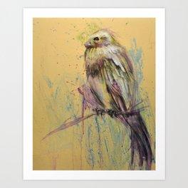 Bird splatter 2 - by Jay Turner Art Print
