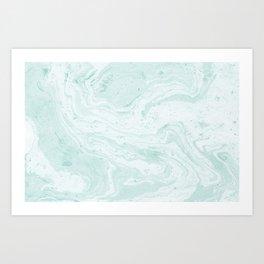 Seaforam Marble Print Art Print