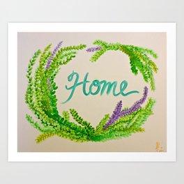 Green Home Art Print