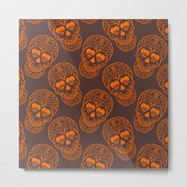 Abstract Skull Monster Metal Print