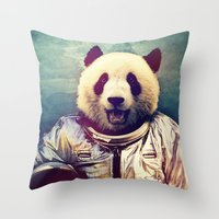hello Throw Pillows featuring The Greatest Adventure by rubbishmonkey