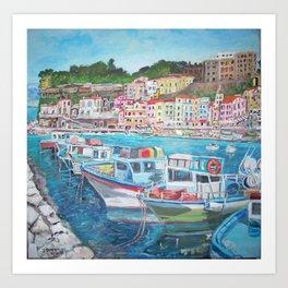 Porto di Sorrent Art Print