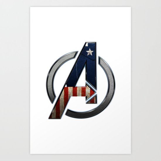 UNREAL PARTY 2012 THE AVENGERS  CAPTAIN AMERICA  Art Print