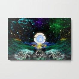 Wolf Galaxy Fantasy Art Metal Print