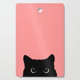 Sneaky black cat Cutting Board
