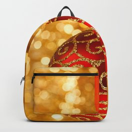 Christmas Bauble on Gold Backpack