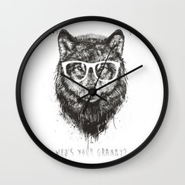 Who's your granny? (b&w) Wall Clock