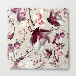 Magnolia cherry blossum Metal Print