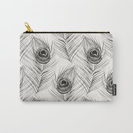 Peacock Feather – Black Palette Carry-All Pouch