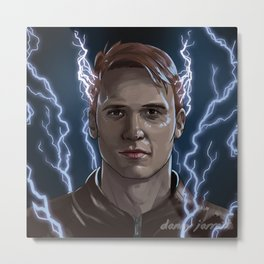 Electrical Devil - Jay Garrick - The Flash Metal Print