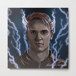 Electrical Devil - Jay Garrick - The Flash Metal Print
