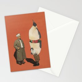 Man and Penguin   Stationery Cards