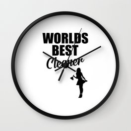 Worlds best cleaner funny quote Wall Clock