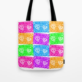 Day of the Dead Sugar Skull Papel Picado Flags Tote Bag